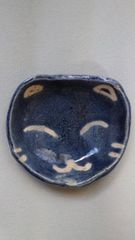 難アリ激安!手作り陶器ハンドメイド小鉢.小皿ネコ顔★猫チャン好