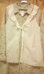 新品SM2スカラップが可愛いコットンの羽織り