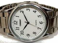 良品【980円〜】大型 CURRNET【日本製MOV】メンズ腕時計