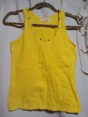 美品洋服黄色タンクトップ(イエロー)1円、1スタ