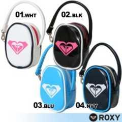 【ROXY/ロキシー】可愛い♪エナメルバッグポーチホワイト