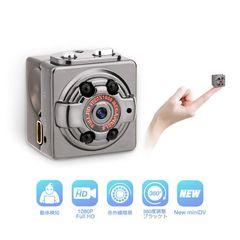 超小型ミニカメラ 1080p 高画質 動体検知 暗視機能付き