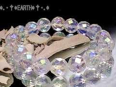 天然石★10ミリ64面カットアクアクリスタルAAA水晶