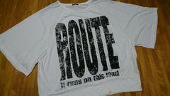 未使用大きいサイズ3L 白 ロゴドルマンTシャツ