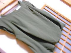 ローリーズファームさらっと生地ミドリカットソーM*クリックポスト164円