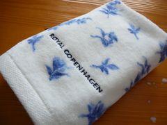 ロイヤルコペンハーゲンハンドタオルブルー小花柄