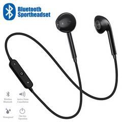 Bluetooth イヤホン ワイヤレス マイク 両耳 USB 充電 黒