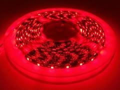 24V LEDテープ 5M巻 300連 黒ベース 赤色発光 レッド