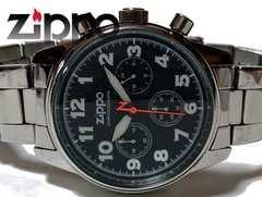 極上美品 ZIPPO ジッポ公式 フルメタル【クロノグラフ】腕時計