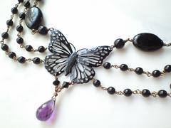 ***黒蝶のネックレス***