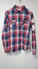 ★Jean Nassaus California★ジーンナッソーズワッペン付きチェックシャツ