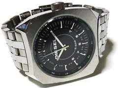 良品 1スタ★ディーゼル【廃盤】レトロ風 大型メンズ腕時計