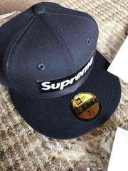 Supreme/play boy Box Logo New Era Navy 7-1/4