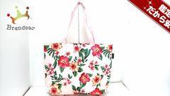 EMODA(エモダ) トートバッグ ピンク×マルチ 花柄 ナイロン