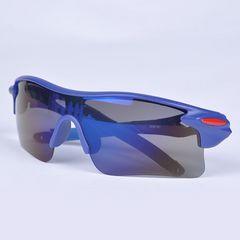 スポーツサングラス サングラス UV400 紫外線カット 自転車 青