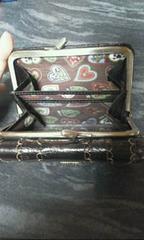 アナスイ茶色革製ガマ口2つ折り財布