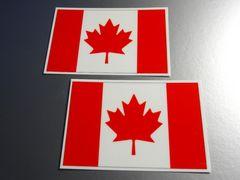 ■カナダ国旗ステッカー2枚セット即買!光沢シール☆