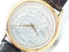 9098/稀少品オリジナルモデルコインウォッチメンズ腕時計★激レアモデル格安