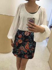 MURNA/ムルーア バックファスナー花柄タイトスカート 渋谷109