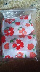 花柄 シャワーキャップ 2ケ組