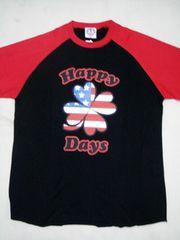 POM(ピースオンマーズ)HappyDaysラグラン七分袖TシャツS