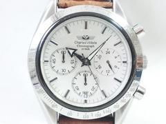 9120/シャルルホーゲル★定価6万円位/スポーツクロノグラフメンズ腕時計ブレス新品