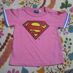 キッズスーパーマン ピンク Tシャツ 90�p