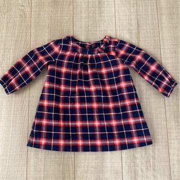 美品baby Gap女の子ワンピース70長袖