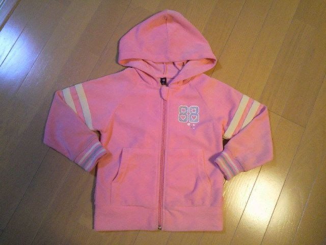ピンクパーカージャケット☆女児長袖上着☆サイズ110�p  < キッズ/ベビーの