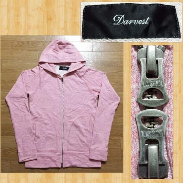 Darvest ダーヴェスト ジップフードパーカー ピンク ダーベスト < 男性ファッションの