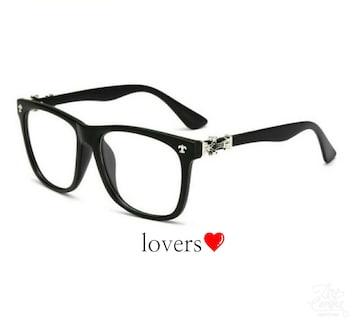 送料無料クリアブラック黒ゴールドクロス十字架メガネめがね眼鏡