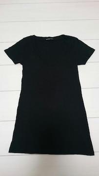 美品★moussy ブラック VネックTシャツ