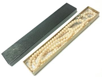 11464/真珠イミテーションネックレスロングタイプで凄く素敵ですよオシャレさんに
