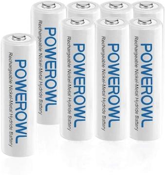 単4形充電式ニッケル水素電池8個セット 大容量