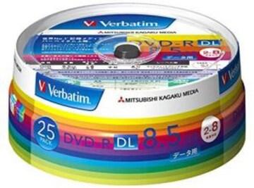 色ホワイト サイズ25枚 三菱ケミカルメディア Verbatim 1回記録