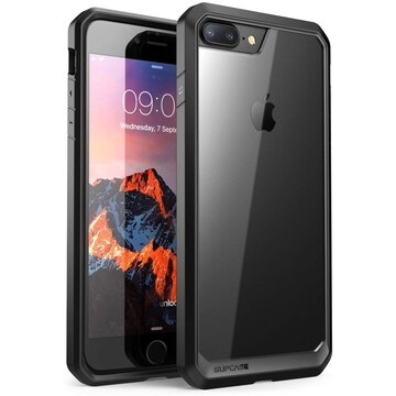 iPhone8 Plus/7 Plus ケース 米軍MIL規格 耐衝撃 透明/黒