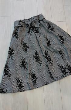 ★★ミモレ丈スカート ウエストゴムです。サイズM