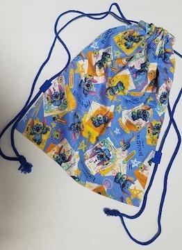 特価 ☆ N27 スティッチ ナップサック 着替え袋 ハンドメイド