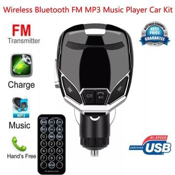 Bluetooth FMトランスミッター スマホ 音楽 シルバー