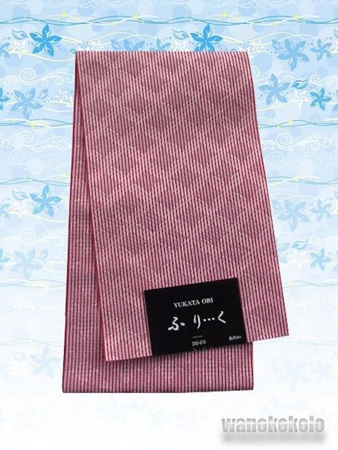 【和の志】日本製◇浴衣帯◇ピンク系・七宝柄◇GO-681  < 女性ファッションの