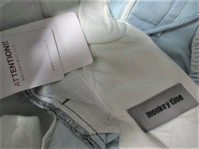 ☆MONKEY TIME モンキータイム スウェット デニム ジョガーパンツ/メンズ/L☆新品 < ブランドの