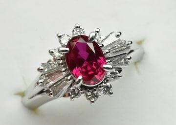 京セラ クレサンベール 綺麗な ルビー リング 10号 指輪