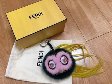 正規品 美品 FENDI フェンディ ファーモンスターチャーム