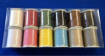 ミシン糸12色セット(100m60番/普通地用)