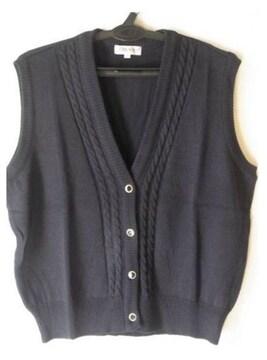大きいサイズ15号 ニットベストネイビー紺制服
