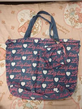 LIZ LISA☆総ロゴデニムトートバッグ