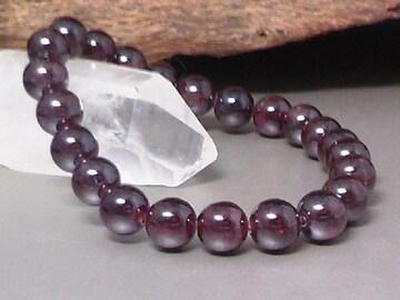 極上§1月の誕生石§天然ガーネット8ミリ数珠
