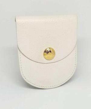 正規美品エルメスコインケースセリエホワイト型押しGP金具小銭