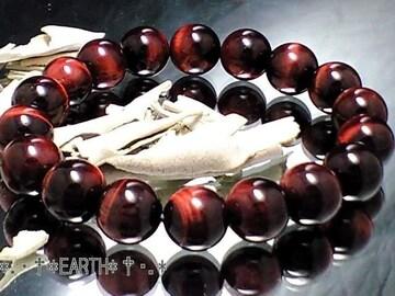 天然石★10ミリ赤虎目AAAレッドタイガ-アイ数珠