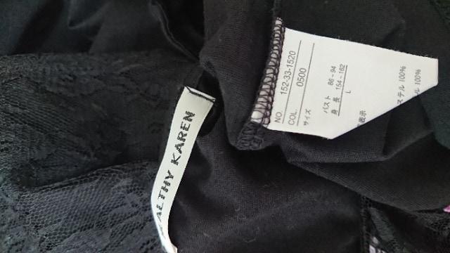 黒レースLTシャツ < 女性ファッションの